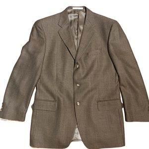 Joseph Abboud Men's Brown/Gold Blazer Size 40R